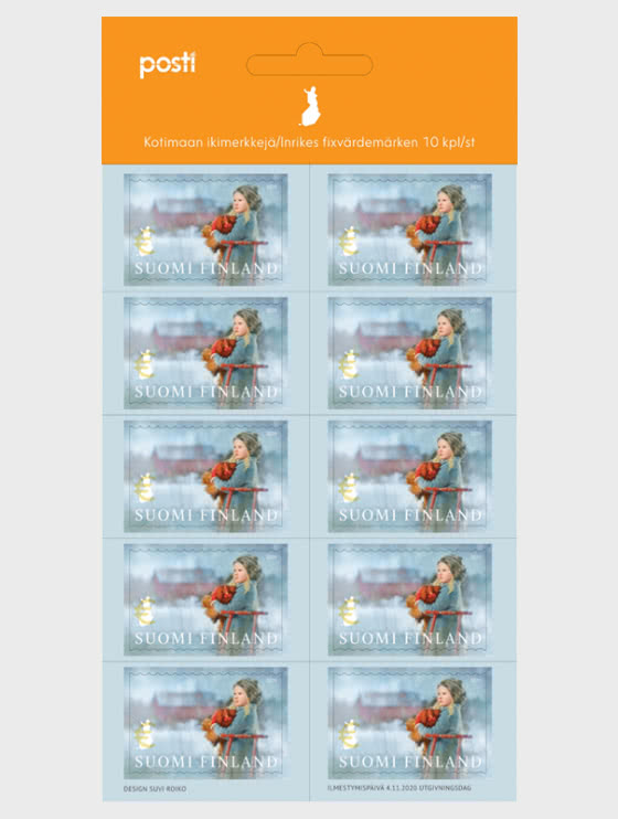 Sled Ride - 10 Domestic Stamps - Sheetlets