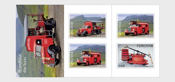 Old Fire Trucks - Stamp Booklet