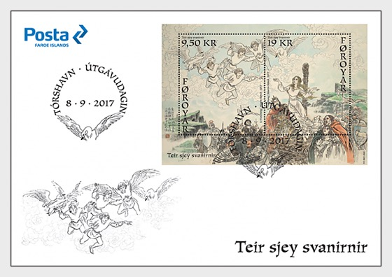 The Seven Swans - (FDC M/S) - First Day Cover