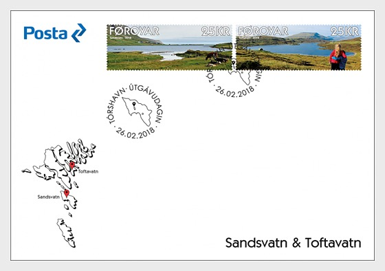 Sandsvatn & Toftavatn - (FDC Set) - First Day Cover