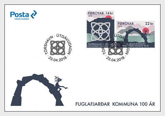 Fuglafjordur Municipality 100 Years - (FDC Set) - First Day Cover