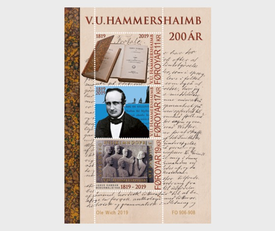 V.U. Hammershaimb 200 Years - M/S Mint - Miniature Sheet