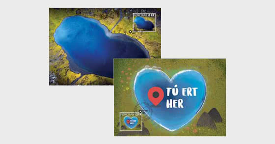 Valentine's Day - The Heart-Shaped Lake - Maxi Cards