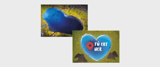 Valentine's Day - The Heart-Shaped Lake - Postcard