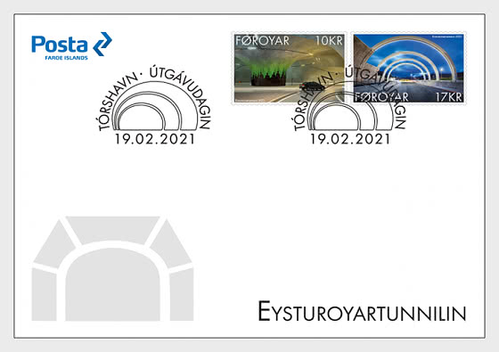 The Eysturoy Tunnel - FDC Set - First Day Cover