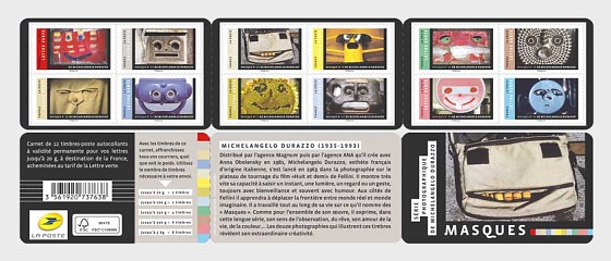Masks - Photographic series by Michelangelo Durazzo - Stamp Booklet