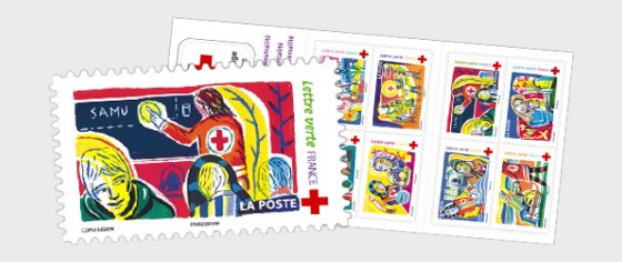 La Cruz Roja Francesa - Libro de Sellos