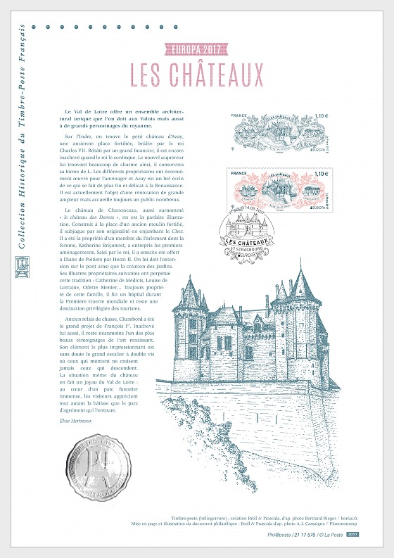 Europa 2017 - Castles (Philatelic Document) - Collectibles