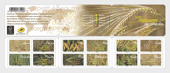 A harvest of cereals - Stamp Booklet