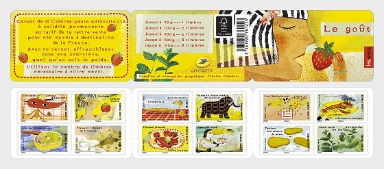 Taste - the senses - Stamp Booklet