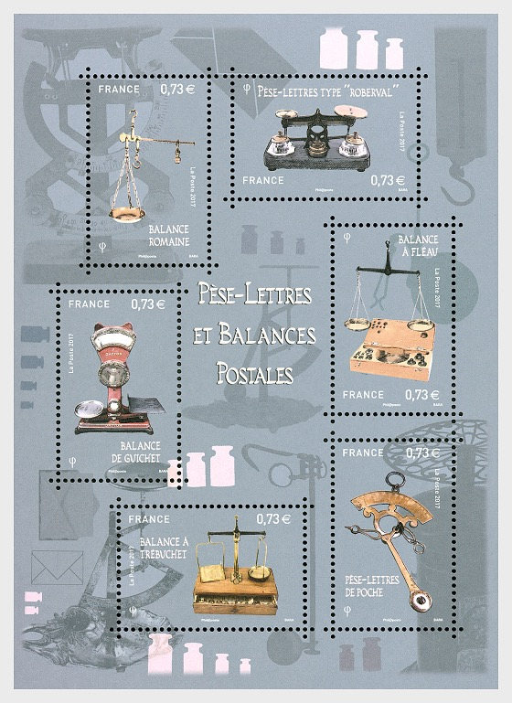 Postal Scales - Miniature Sheet