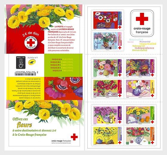 Cruz Roja Francesa - Ofrezca estas flores - Libro de Sellos