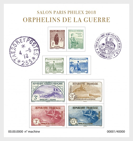 Salon Paris Philex 2018 - Orphans of War - Miniature Sheet