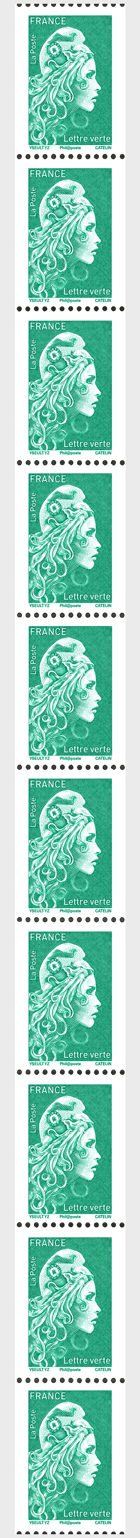 Marianne 2018 - Green Letter (Single Stamp) - Coil Stamps