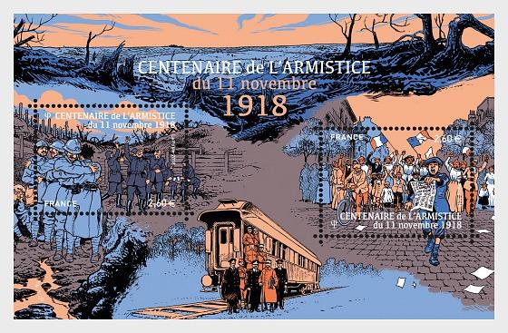 Centenary of the Armistice of November 11, 1918 - Miniature Sheet