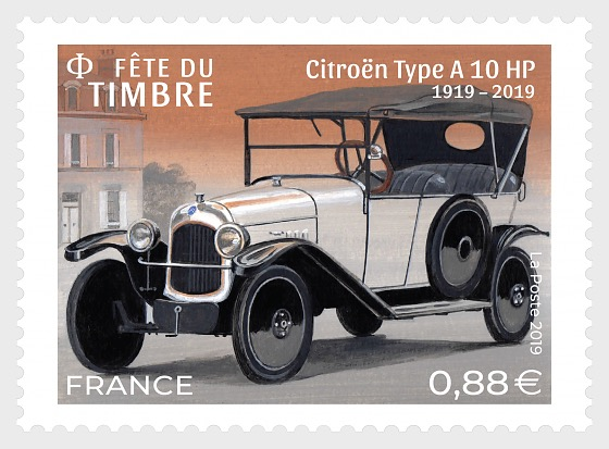 Stamp Day 2019 - Stylish Cars - Citroën Type A10 HP - Set