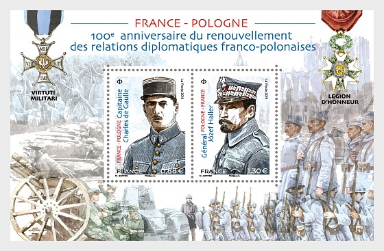 Joint Issue France - Poland - Miniature Sheet