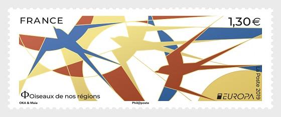 Europa 2019 - Aves de nuestras regiones - Series