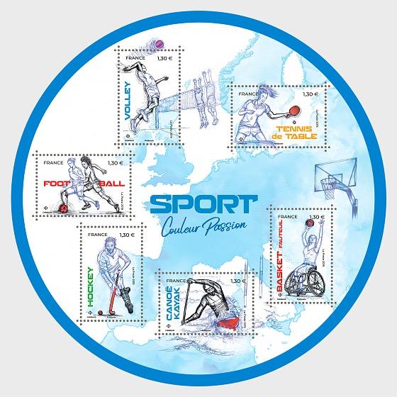 Deporte color pasion - Hojas Bloque