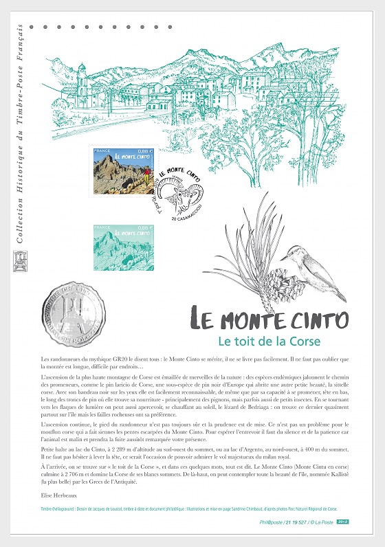 Monte Cinto (Philatelic Document) - Collectibles