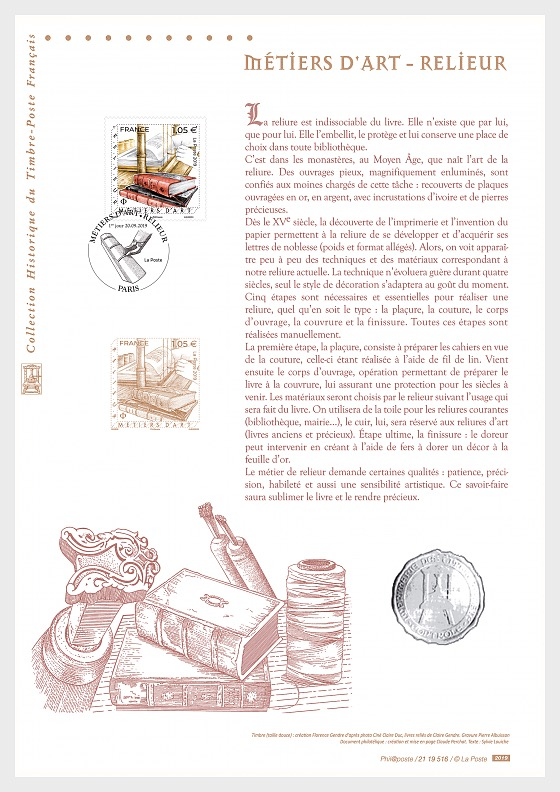Crafts - Bookbinder (philatelic document) - Collectibles