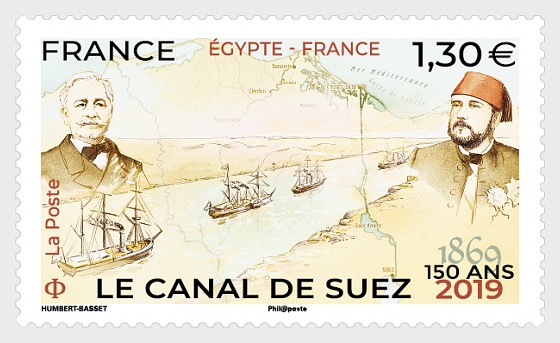Joint Issue France - Egypt - Suez Canal 150th Anniversary - Set