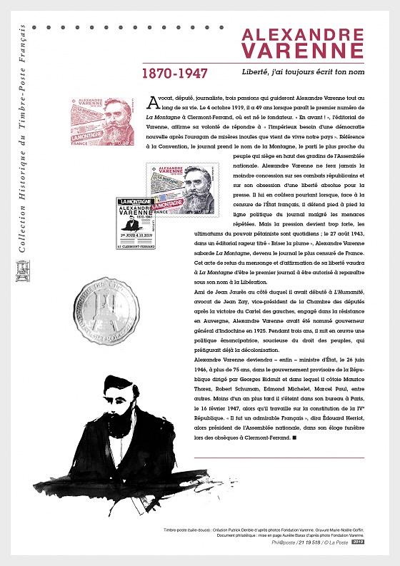 Alexandre Varenne 1870 - 1947 (Philatelic Document) - Collectibles