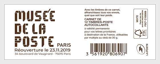 Marianne 2018 Museum reopening - Stamp Booklet
