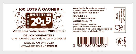 Marianne 2019 Stamp Election - Stamp Booklet