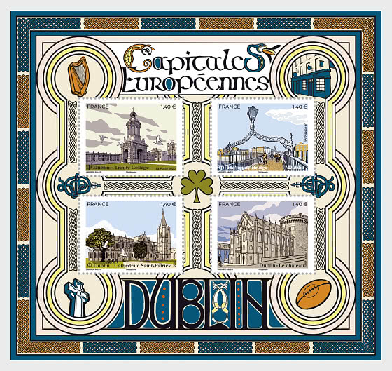 European Capitals - Dublin - Miniature Sheet