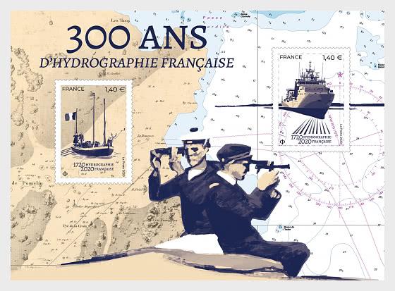 SHOM - Tercentenary of French Hydrography - Miniature Sheet