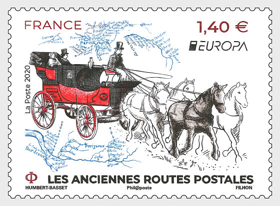Europa 2020 - Old Postal Routes - Set