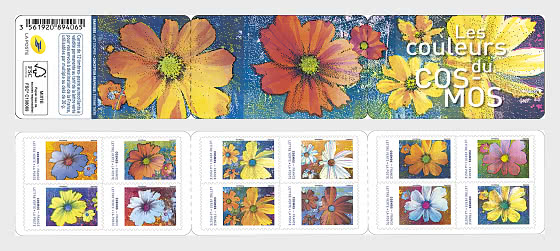 Cosmos Flowers - Stamp Booklet