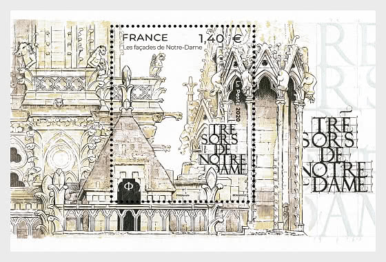 Treasures of Notre Dame - Miniature Sheet