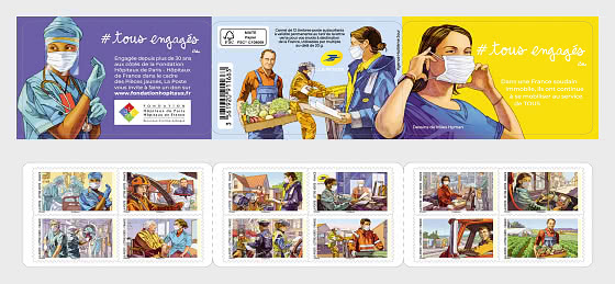 #Tous Engages - Stamp Booklet