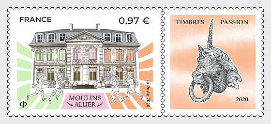 Moulins Allier Briefmarken Passion 2020 - Serie