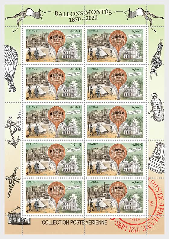 150年气球邮件 - 小版张