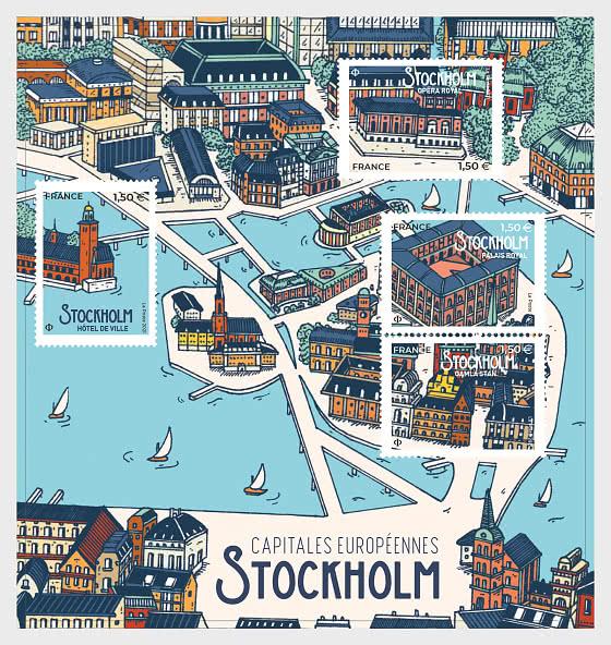 Capitales Européennes - Stockholm - Blocs feuillets