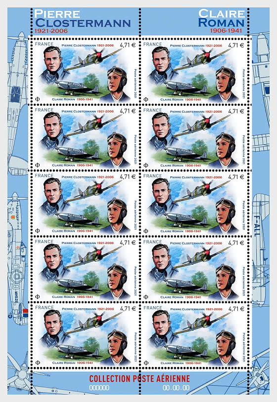 Clostermann and Roman Air Mail - Sheetlets