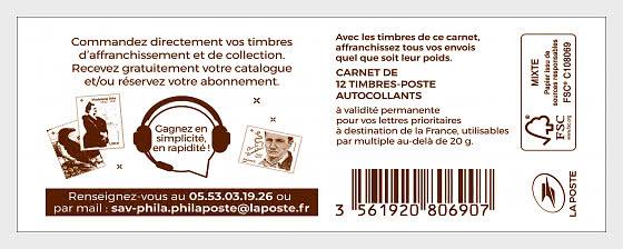 Marianne 2018 - Customer Service - Stamp Booklet