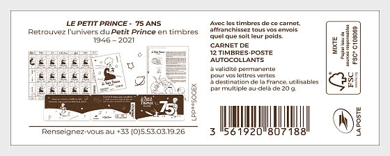 Marianne 2018 - The Little Prince - Stamp Booklet