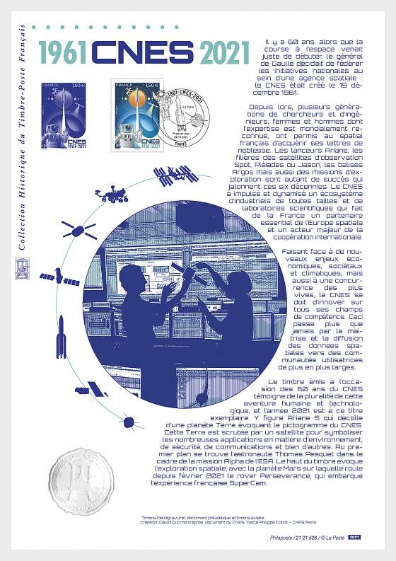 CNES 1961 - 2021 - Philatelic Document  - Collectibles