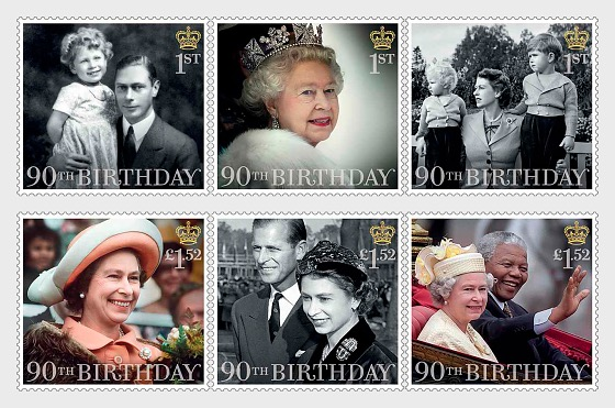 HM The Queen's 90th Birthday Set - Set