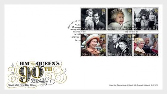 HM The Queens 90th B-Day (FDC-Set) - First Day Cover