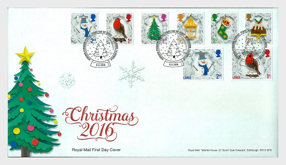 Christmas 2016 (FDC-S) - First Day Cover