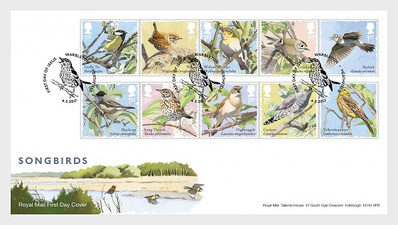 Songbirds - First Day Cover