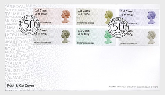The Machin Definitive 50th Anniversary (Post & Go) - First Day Cover