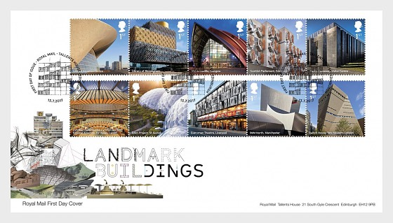 Landmark Buildings - First Day Cover