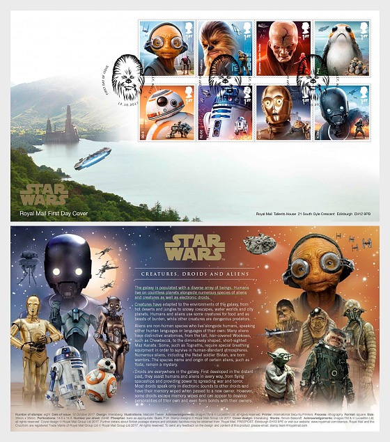 Star Wars: The Last Jedi - First Day Cover