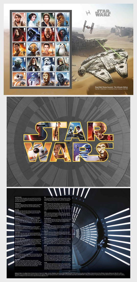 Star Wars: The Last Jedi (Stamp Souvenir – Ultimate edition) - Collectibles